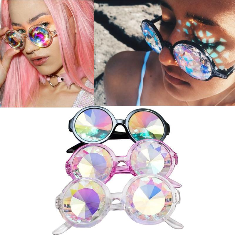 Holographic Round Sunglasses